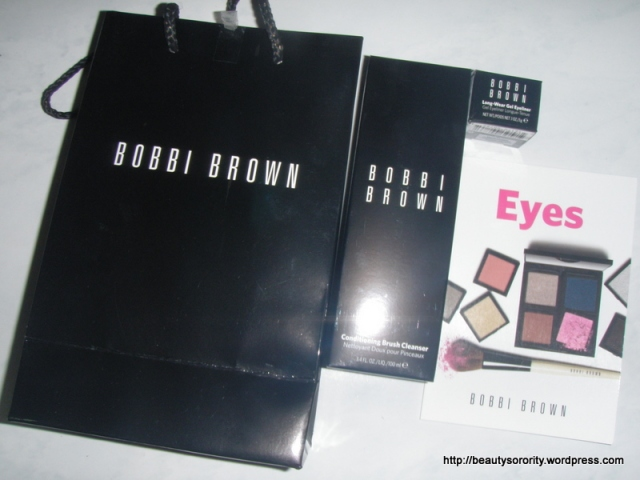 Bobbi brown products and such.
