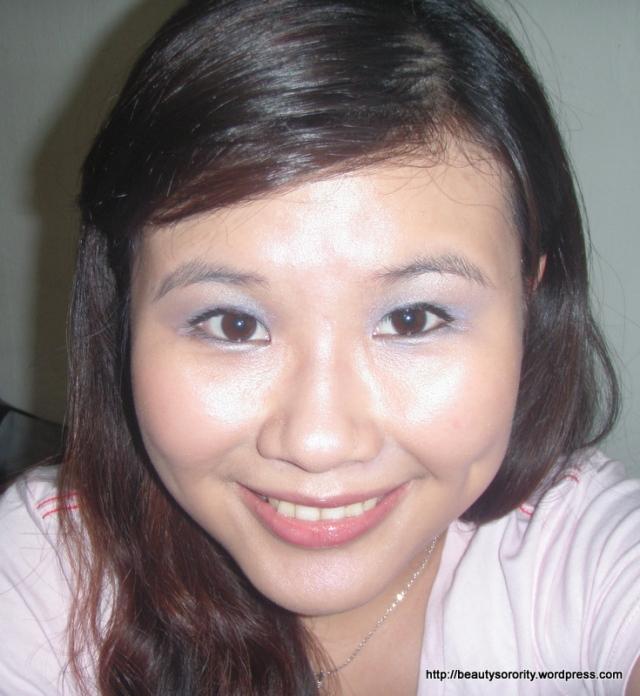 purple eyeshadow final look