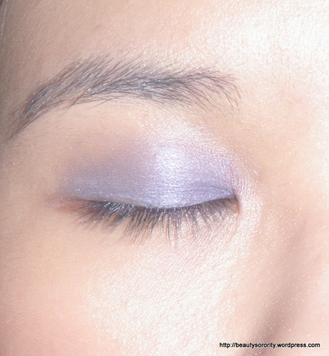purple eyeshadow step 1