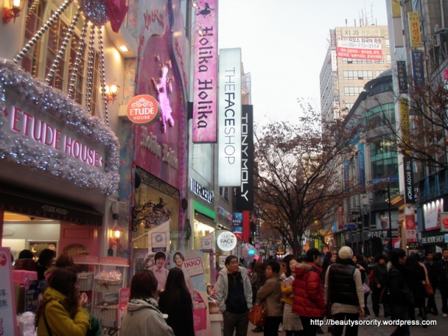 beauty stores in myeongdong