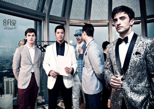 men's fashion week press conference covered by 8flo, backstage