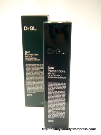 Sun Protection for oil control or acne-proned skin by DrGL