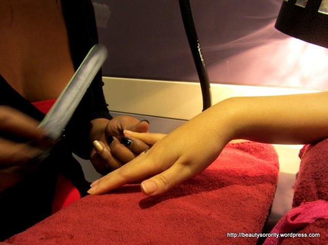 minx nails process at vedure nailspa