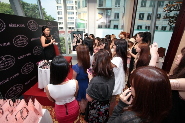 Kristen, beauty blogger, emcee of Bebe poshe bloggers' event