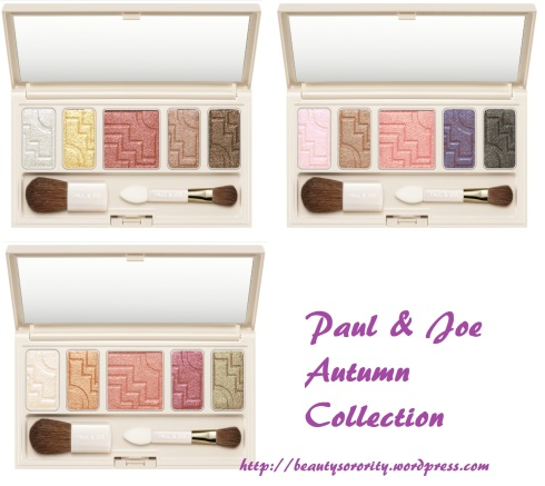 paul and joe eyeshadow palettes from autumn collection 2011