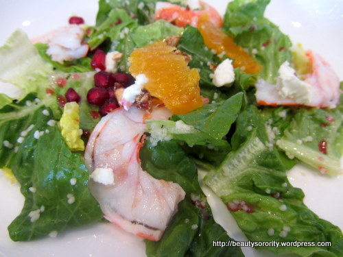 tiger prawn salad at 1altitude