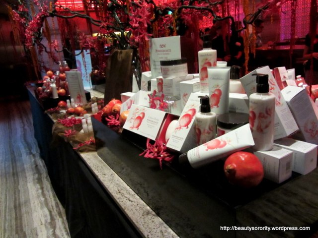 crabtree & evelyn pomegranate media event
