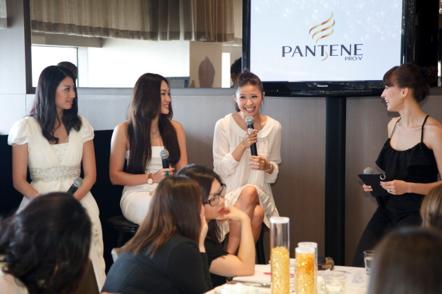 three ladies who have tried the pantene products