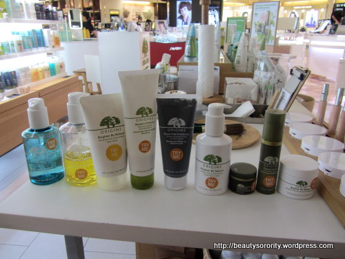 origins products picked out for mini facial
