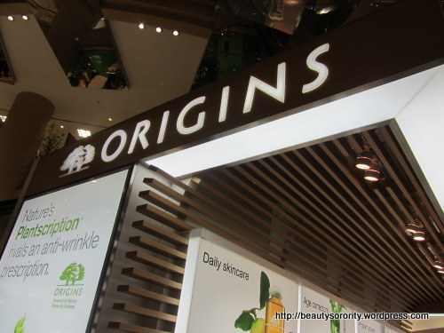 origins counter at isetan scotts
