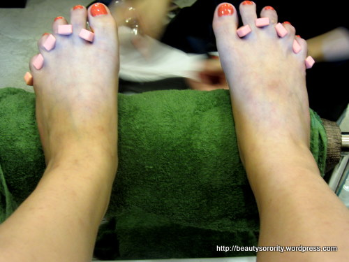pedicure at the nail district