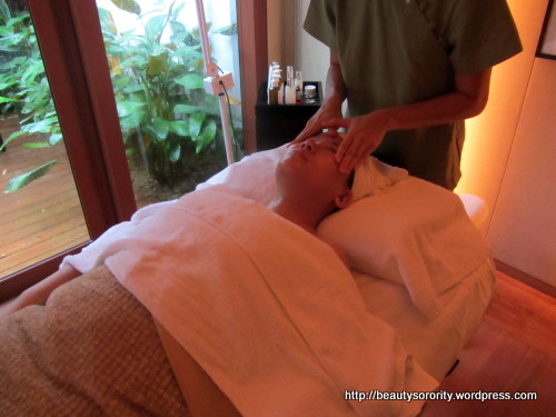 enzyme peel facial treatment at auriga, capella hotel