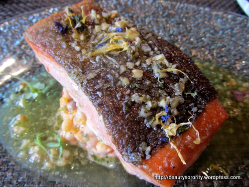 salmon - skin radiance menu at auriga spa