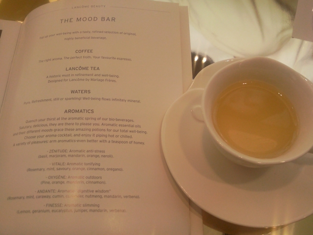 tea at lancome beauty institute