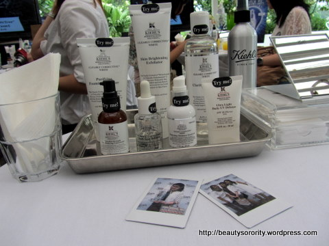 kiehl's clearly corrective white collection bloggers' event
