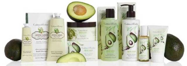 crabtree & evelyn avocado, olive and basil collection