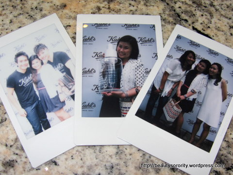 kiehl's bloggers' event polaroid