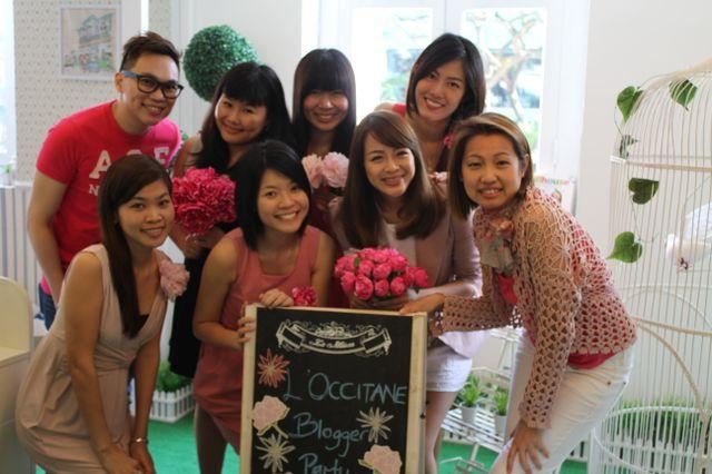 bloggers at l'occitane event - yina goh, valerie lim, patricia tee, kristen juliet soh