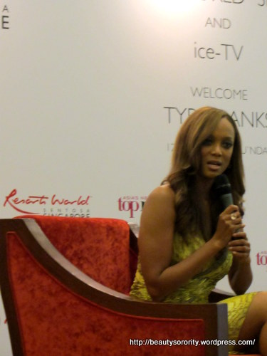 tyra banks in singapore