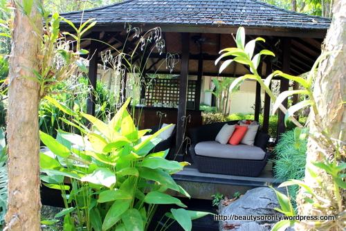 tea pavilion at spa botanica