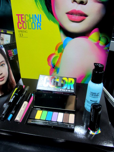 make up for ever mufe technicolor palette - look