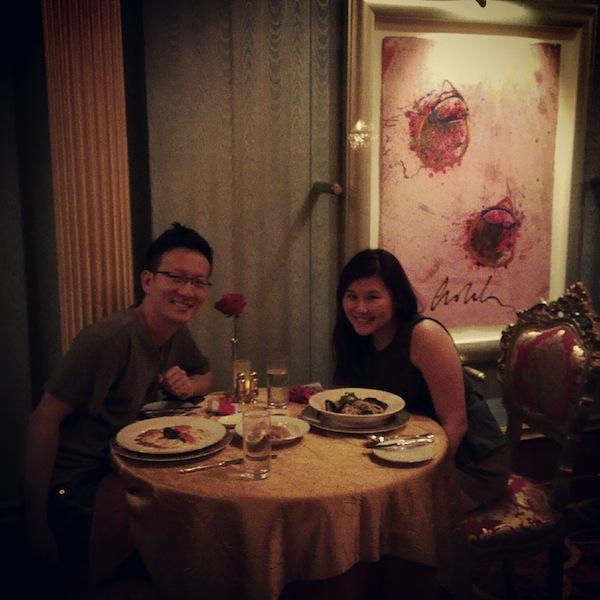 dinner at palazzo