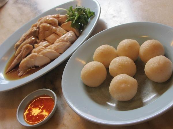 malacca chicken rice ball