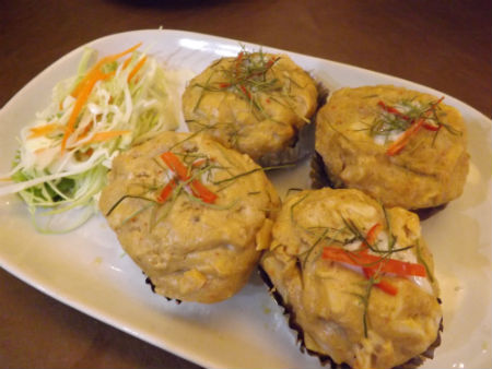 crab cakes at siam paragon food court
