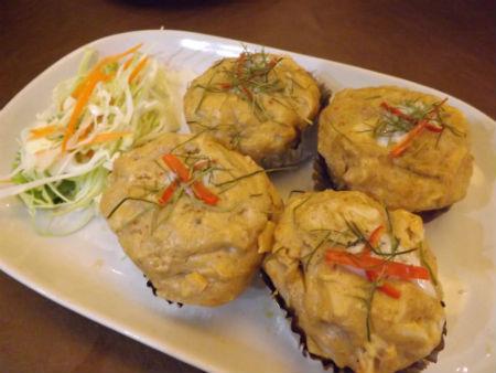 crab cakes at siam paragon food court