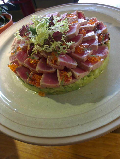 avocado tartare with tuna