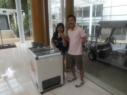 kristen and keith at amara sanctuary - ice-cream