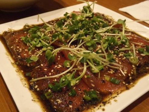 nana-greentea tuna carpaccio