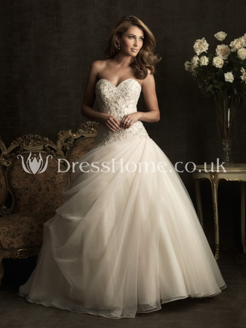 organza bridal gowns