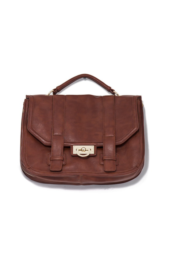 double strap satchel