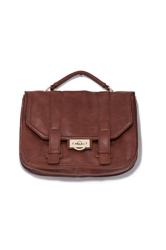 double strap satchel