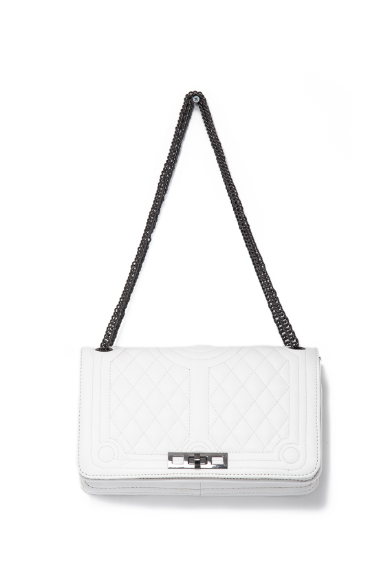 quilted cross body with lock