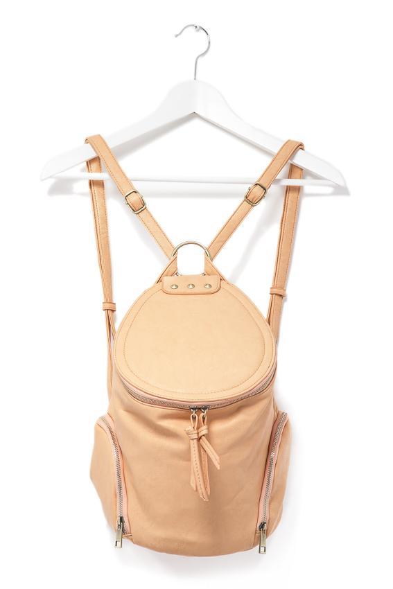 round lid bucket backpack
