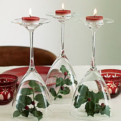 christmas wine glass decor