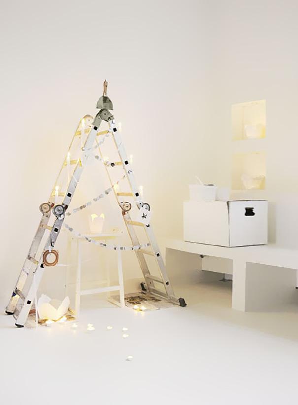 diy ladder christmas tree