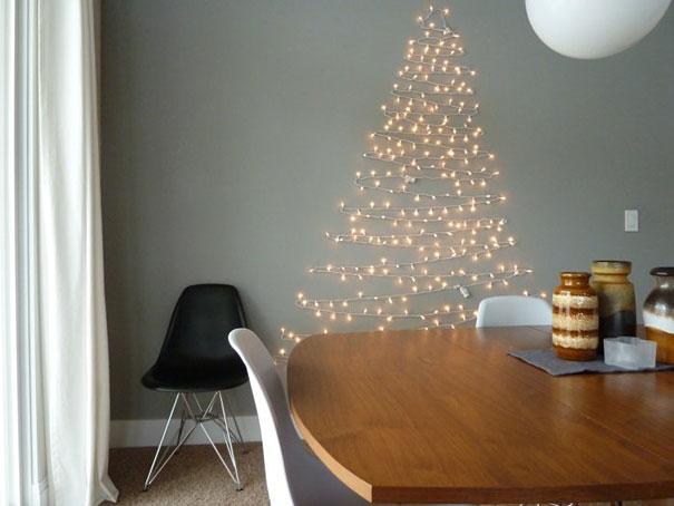 diy light christmas tree
